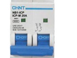 CHNT TERMCIO NB1 2P 20A 6KA P/RIEL DIN 240/415 V (IEC 60898)