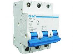 CHNT TERMCIO NB1 3P 40A 6KA P/RIEL DIN CURVA C 240/415V UL1077