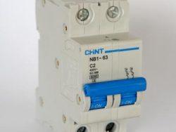 CHNT TERMCIO NB1-63H 2P 10A 10KA P/RIEL DIN CURVAC 220/440V 240/415V (IEC 60898)